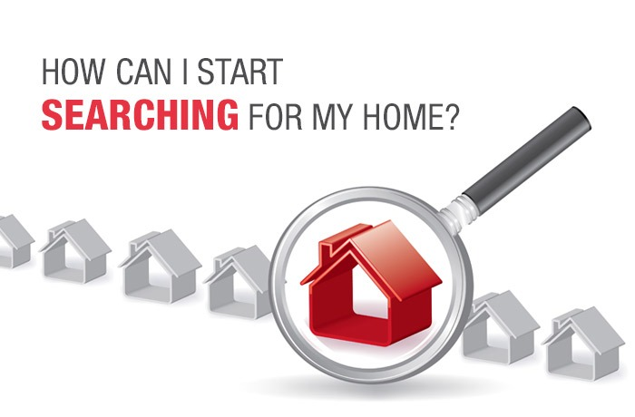 How can I start searching for my home