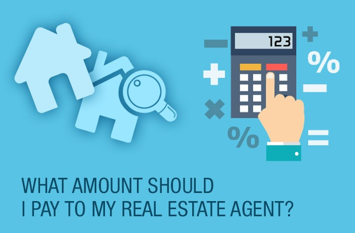 What amount should I pay to my real estate agent