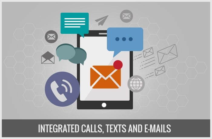 Integrated Calls, Texts and E-Mails
